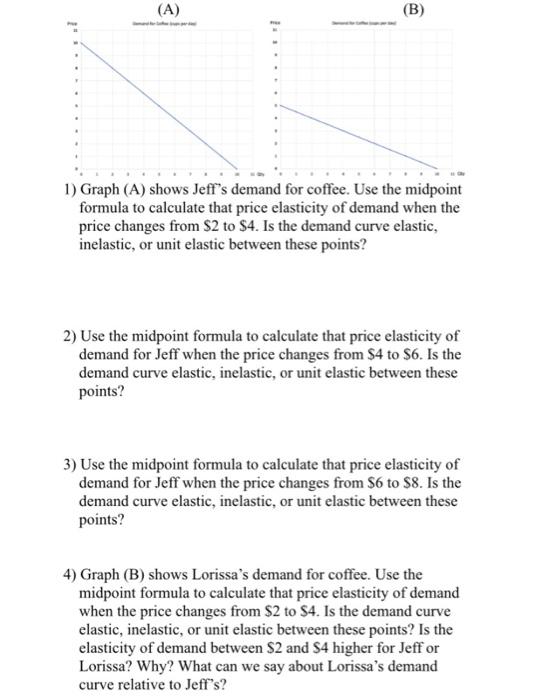 Solved B 1 Graph A Shows Jeff S Demand For Coffee U Chegg Com