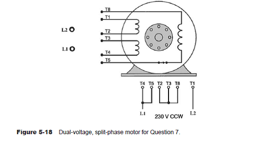 Connect the dual-voltage split-phase motor shown in Fig... | Chegg.comChegg