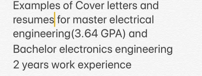 Examples Of Cover Letters And Resumes For Master E ...