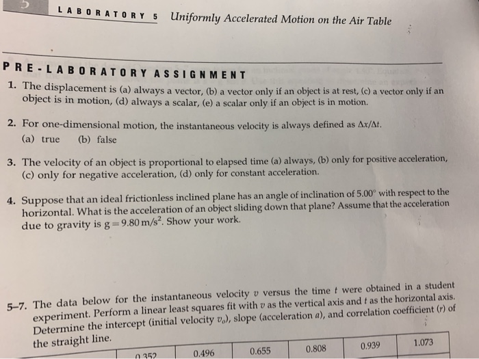 uniformly accelerated motion lab report