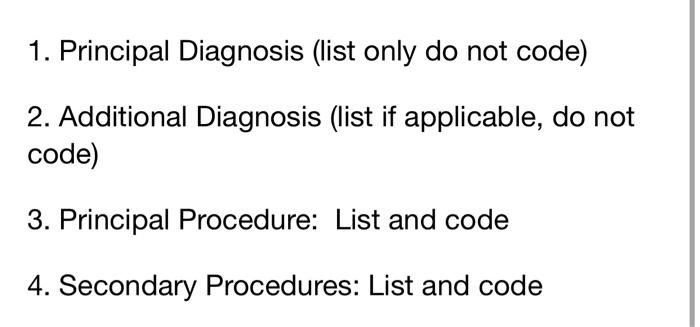 Solved Goerative Report Coative Diagnosis Obstructing Si Chegg Com