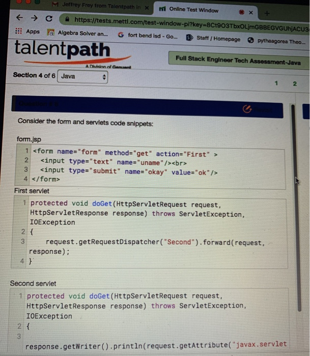 Solved: Jeffrey Frey From Talentpath I M Online Test Windo