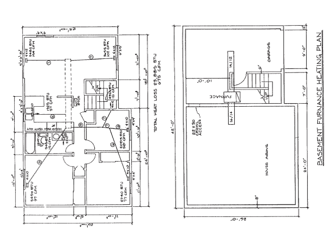 Residential HVAC plan Given: Residential heating eng... | Chegg.com | Hvac Plan Drawing Pictures |  | Chegg