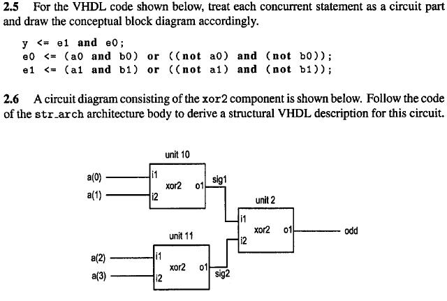 Solved: For The VHDL Code Shown Below, Treat Each Concurre... | Chegg.comChegg