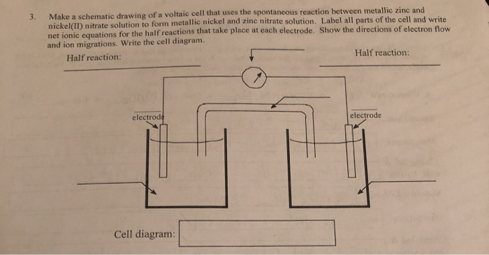 Solved: 3. Make A Schematic Drawing Of A Voltaic Cell That ... on